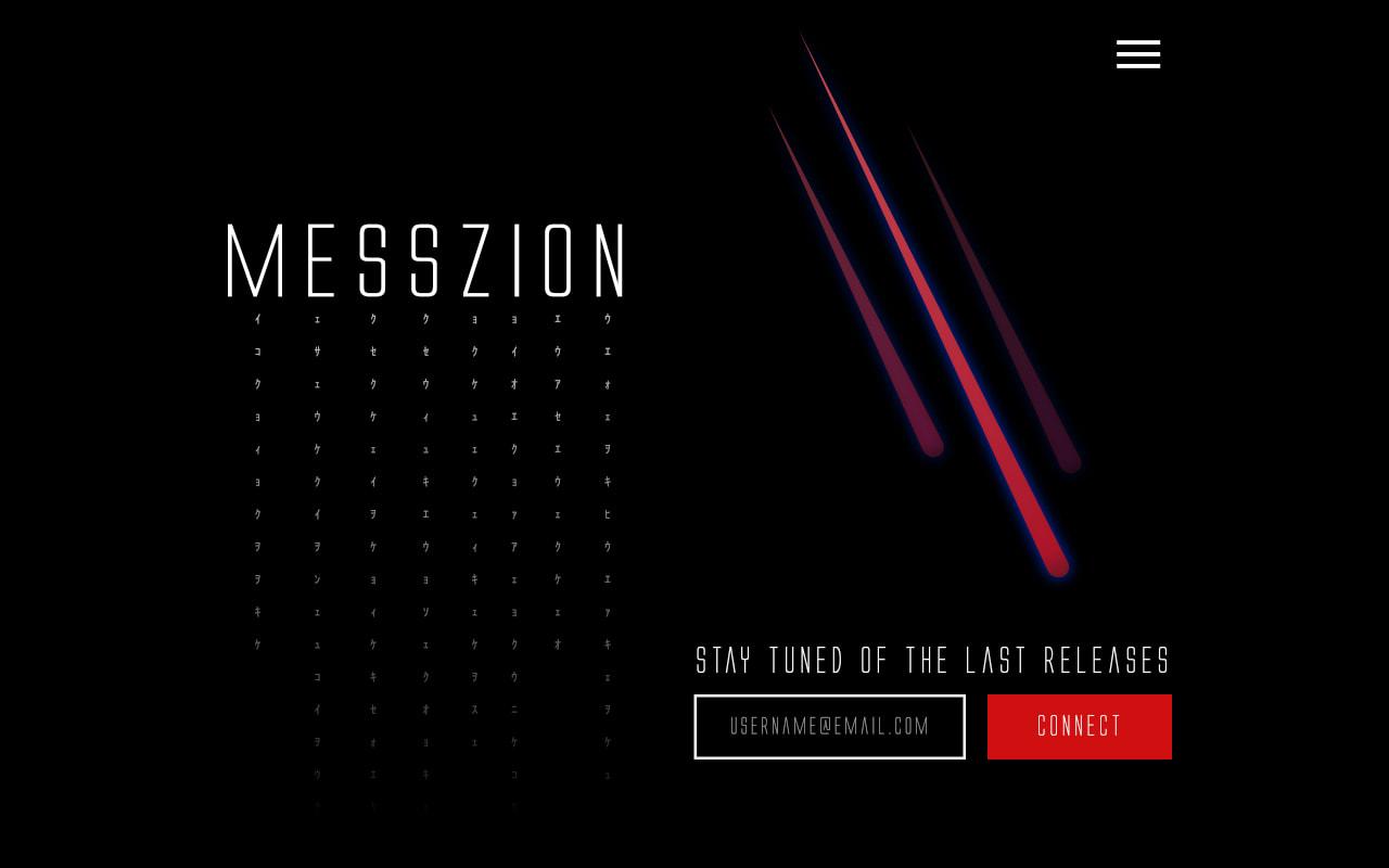 Création du site vitrine du compositeur de musiques électronique Messzion.