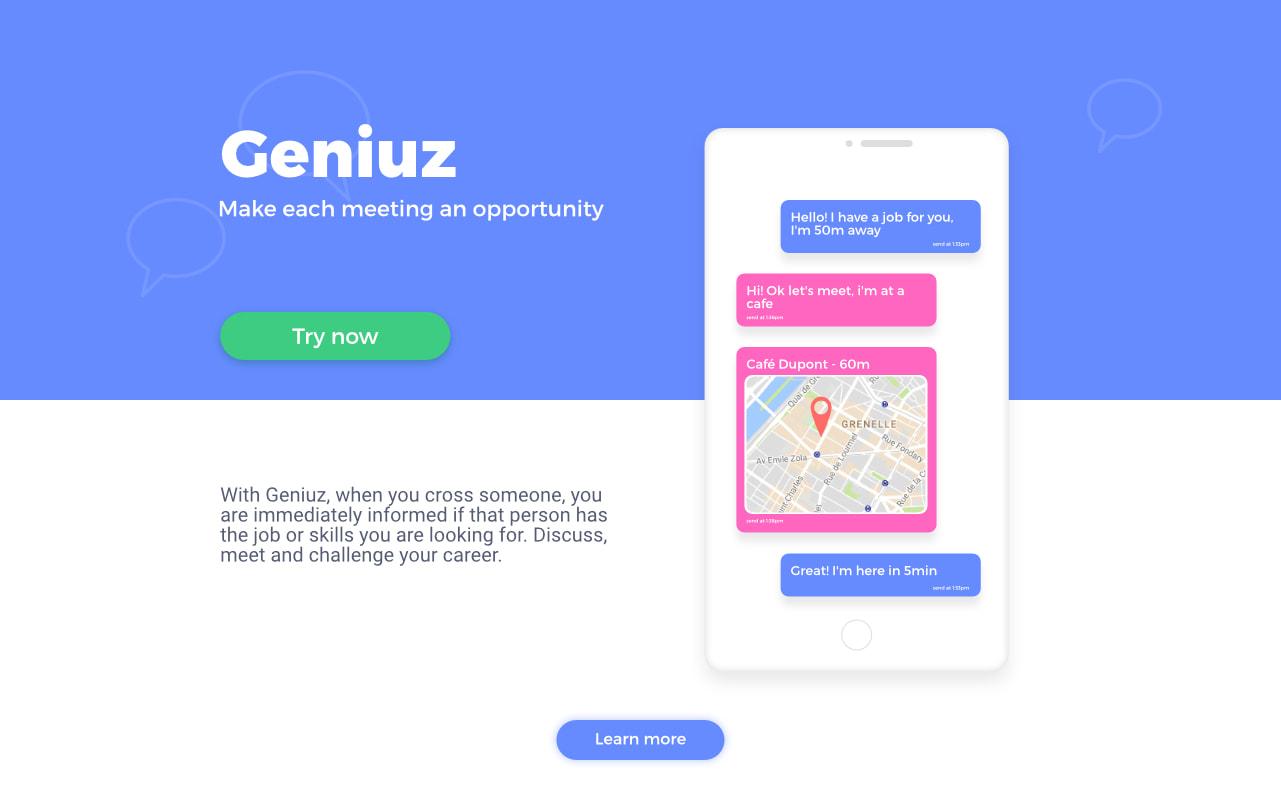 Conception et développement de l'application mobile Geniuz.