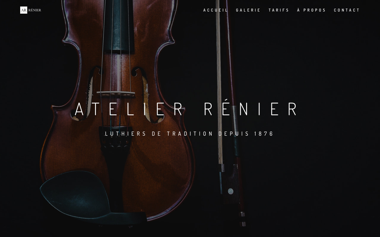 création du site de l 'atelier Rénier - luthiers de tradition à Paris.